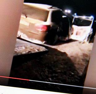 ДТП в Саратове, где погибли граждане Кыргызстана. Фото с сайта Youtube