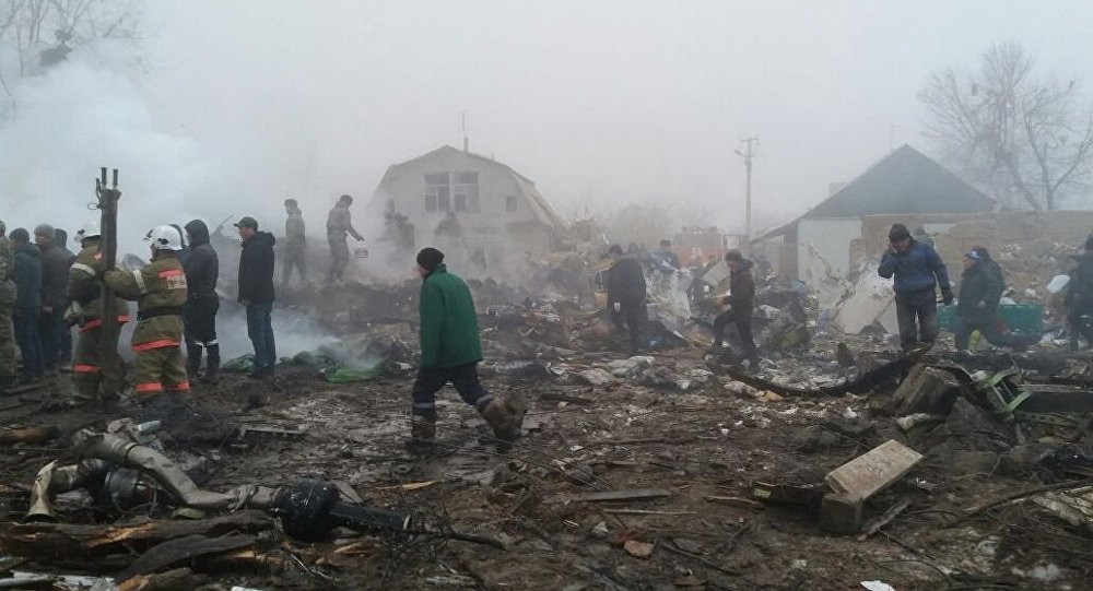 Крушение самолета Boeing-747 недалеко от аэропорта Манас