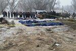 Тела погибший при крушении самолета Boeing-747 недалеко от аэропорта Манас