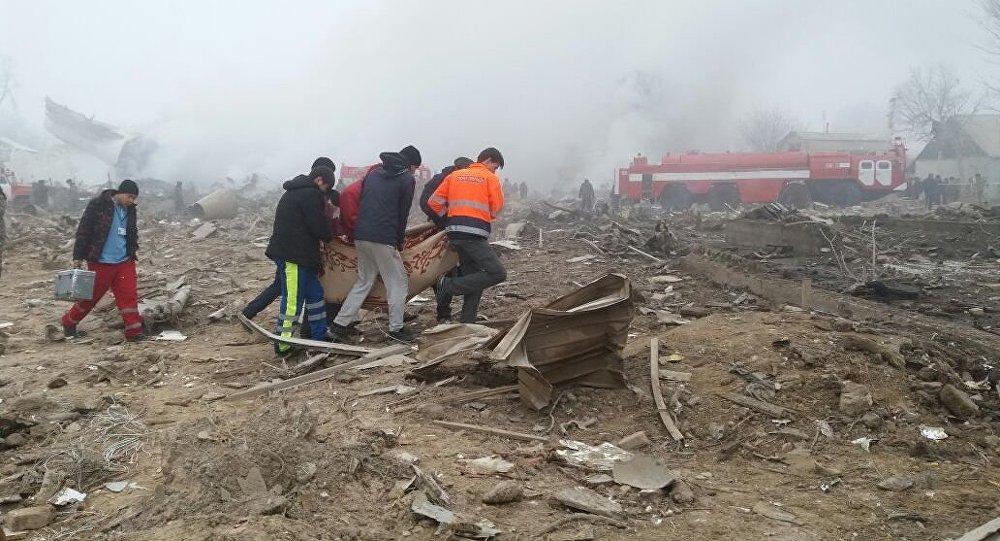 Boeing-747 упал надома, 34 человека погибли— катастрофа под Бишкеком