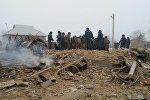 Дача-Суу айылына кулап түшкөн учактын кесепети