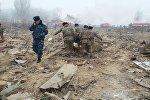 Дача-Суу айылында учак кыйраган жерде