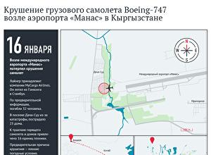 Крушение грузового самолета Boeing-747 возле аэропорта Манас Кыргызстане