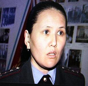 Заместитель начальника пресс-службы Министерства внутренних дел Карима Аманкулова, фото со страницы Facebook пользователя Rinat Sham