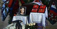 На церемонии прощания с директором Международной общественной организации Справедливая помощь Елизаветой Глинкой, погибшей при крушении самолета Ту-154 в Сочи 25 декабря 2016-го года, в Успенском соборе Новодевичьего монастыря.