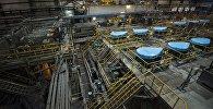 Завод по обогащению золотоносной руды добываемой на руднике Кумтор, которую разрабатывает компанией Centerra Gold Inc. Архивное фото