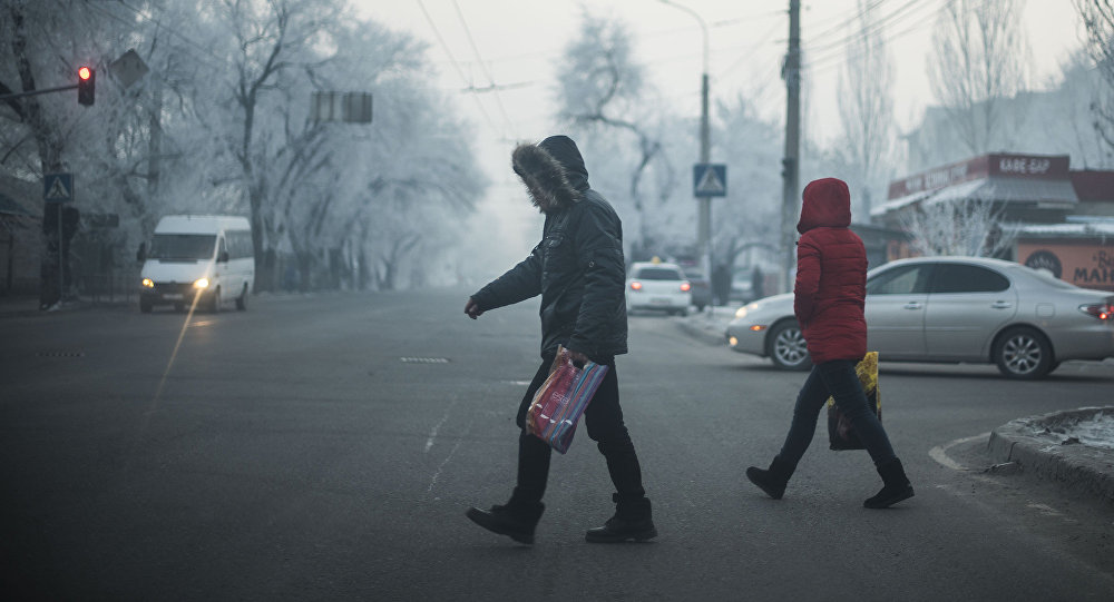 Прохожие на одной из улиц Бишкека. Архивное фото