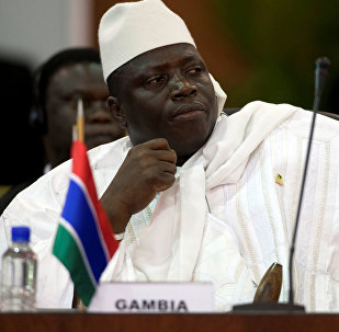 Архивное фото президента Гамбии Яйя Джамме