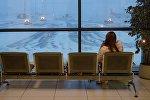 Женщина в аэропорту Шереметьево. Архивное фото