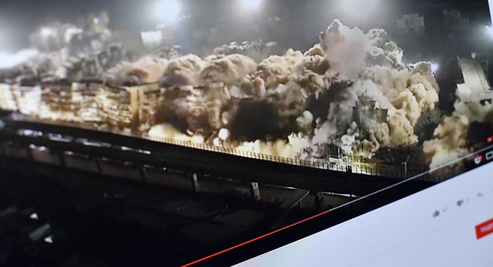 Китайцы взорвали 19 зданий за10 секунд