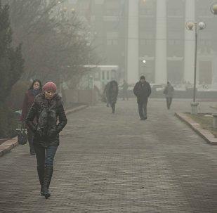 Туман в Бишкеке. Архивное фото