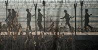 Пограничники на границе Китая. Архивное фото