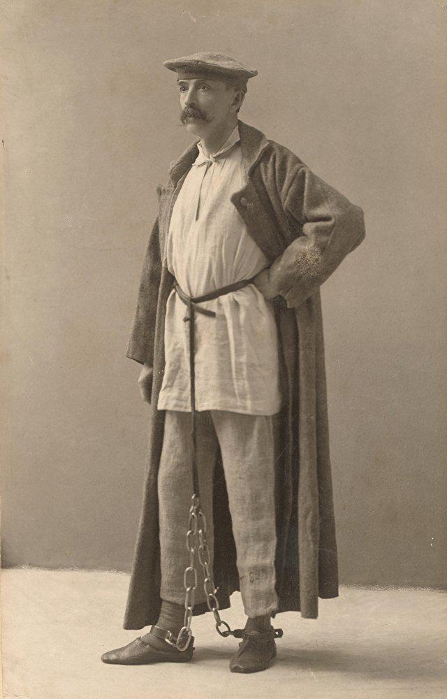 Джoрдж Кеннан в одежде сибирского ссыльного