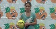 Архивное фото теннисистки из Кыргызстана Эммы Нургазиевой