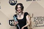 Голливудская актриса Вайнона Райдер на церемонии вручения премии Гильдии киноактеров в Лос-Анджелесе