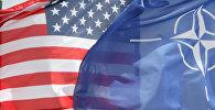 Флаги США и НАТО. Архивное фото