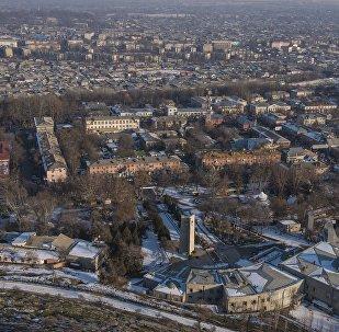Вид на здания в городе Ош. Архивное фото
