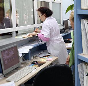 Регистратура поликлиники. Архивное фото