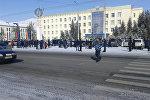 Митинг в городе Нарын, из-за стоимости электроэнергии