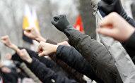 Акция ДПНИ и Славянского союза на Суворовской площади