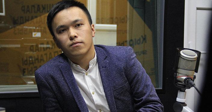 Основатель ОО Патриот-KG Нурсултан Кубанов во время интервью на радио Sputnik Кыргызстан