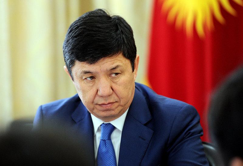 Премьер-министр Кыргызской Республики Темир Сариев на рабочем совещании. Архивное фото