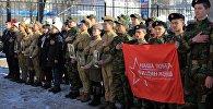 В Бишкеке прошла акция памяти пилотов города Фрунзе, отправившихся на фронт ровно 75 лет назад