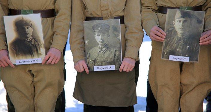 В общей сложности около полутора тысяч человек, которые воевали на Волховском фронте и защищали Ленинград.
