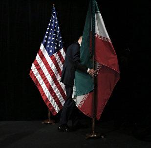 Флаги стран США и Ирана. Архивное фото