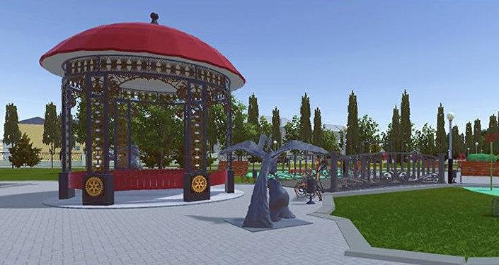 Эскизы проекта реконструкции центрального сквера в городе Каракол