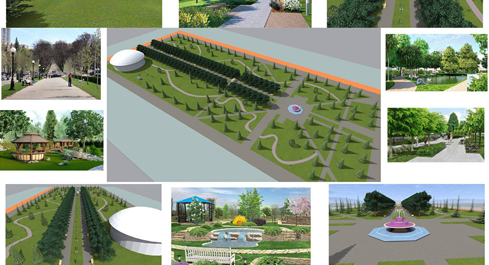 Проект реконструкции центрального сквера в городе Каракол