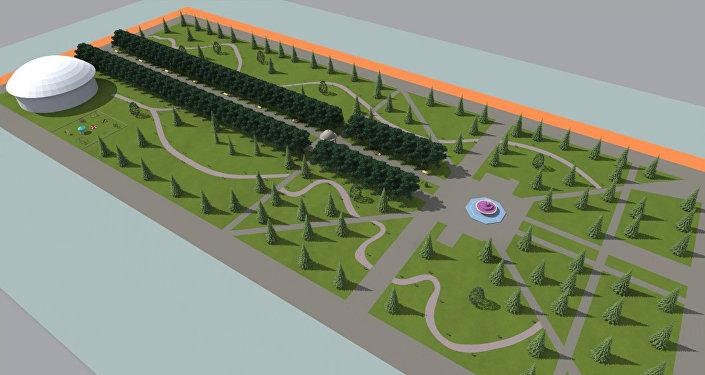 Согласно проекту будет изменен ландшафтный дизайн. Планируется построить общественный туалет, установить систему освещения и скамейки, наладить ирригационную систему, сделать фонтан, велосипедные и роликовые дорожки.