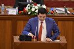 Республика — Ата-Журт фракциясынын депутаты Акылбек Жамангуловдун архивдик сүрөтү