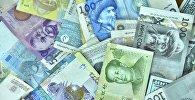денежные купюры разных стран