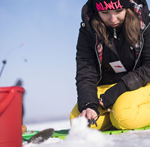 Первые соревнования по ловле рыбы на мормышку со льда в Бишкеке