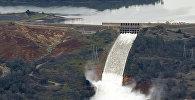 Разрушение самой высокой в США плотины в городе Оровилл, штат Калифорния