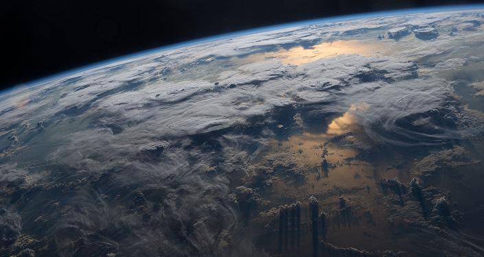 Вид на землю с МКС