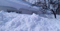 Последствия сильных снегопадов в Чаткальском р-не Ошской области. Архивное фото