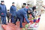 Митинг-реквием, посвященный 28-й годовщине вывода войск из Афганистана в селе Люксембург Ыссык-Атинского района Чуйской области