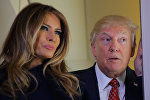 АКШнын президенти Дональд Трамп жана биринчи айымы Меланья Трамп. Архивдик сүрөт