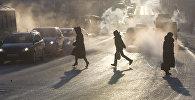 Пешеходы в пробегают дорогу. Архивное фото