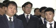 Кадры задержания главы Samsung