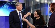 Алмазбек Атамбаевдин Euronews телеканалына маек учурунда