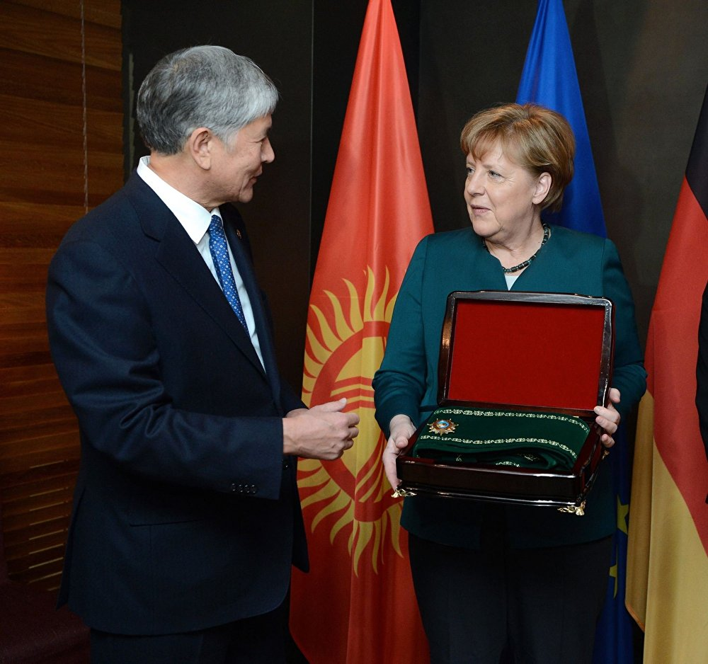 Рабочий визит Алмазбека Атамбаева в Германию