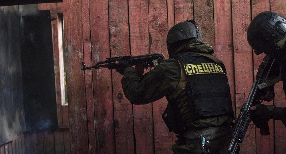 Бойцы спецназа на учениях. Архивное фото