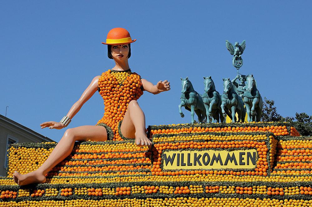 Лимонный фестиваль в Ментоне. Франция