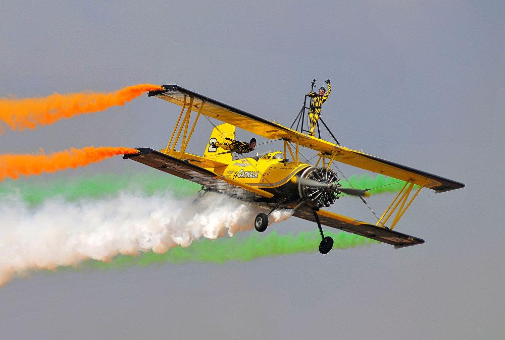 Аэрокосмическая выставка Aero India-2017 в Бангалоре, Индия