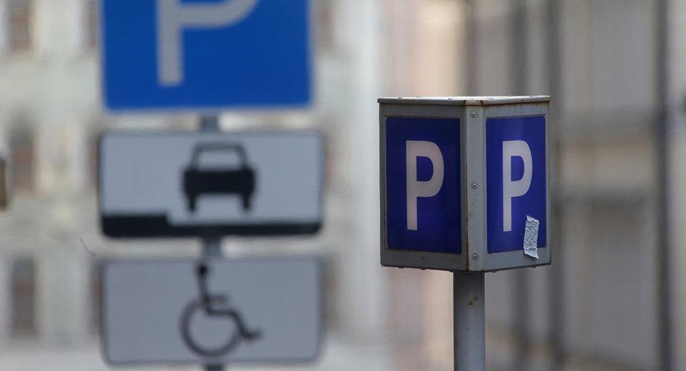 Знаки платной парковки. Архивное фото