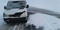 Казакстандагы Астана — Костанай трассасында бузулуп калган кыргызстандык жаран Валерий Фоминдин унаасы
