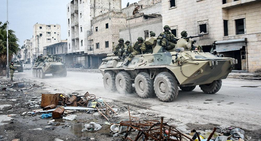 Военные инженеры России в Алеппо. Архивное фото